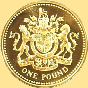 One Pound Royal Arms